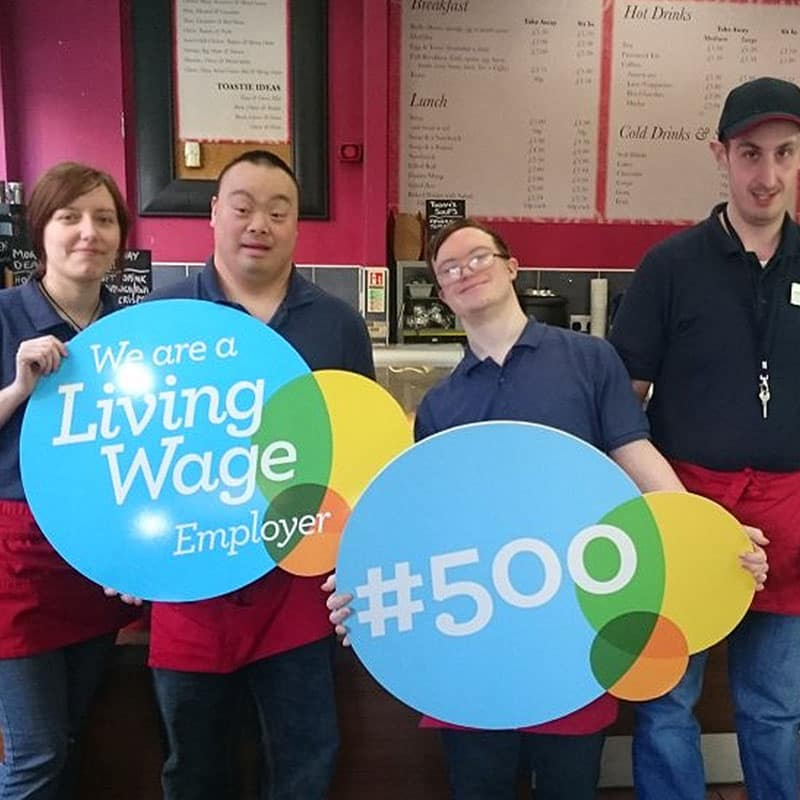 Living Wage Logo with Spoon Staff