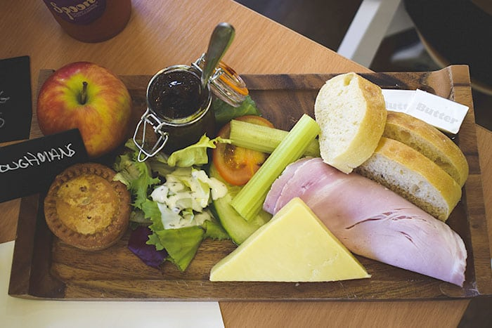 The famous Ploughman's sandwich