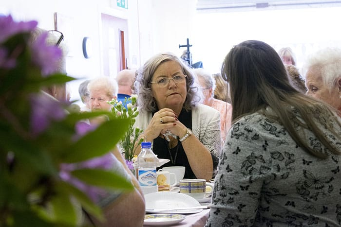 Carers Enjoying Lunch Event