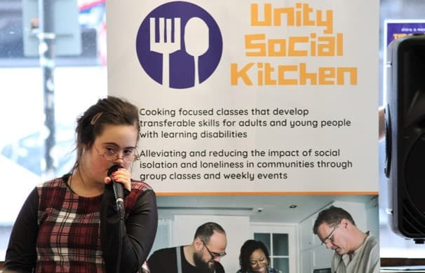 speaker at social kitchen launch